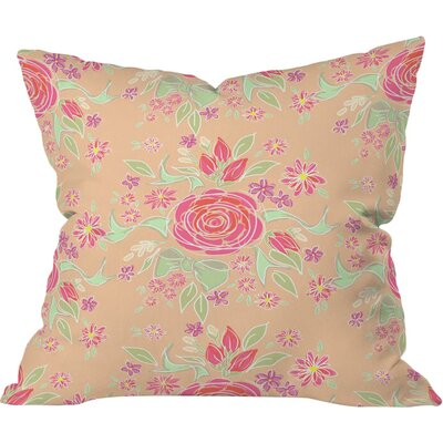 Sweet Rose Delight Outdoor Throw Pillow Size: 16 H x 16 W