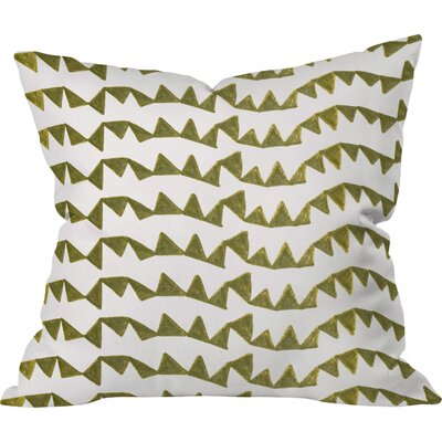 Gold Triangle Pattern Outdoor Throw Pillow Size: 18 H x 18 W x 4 D