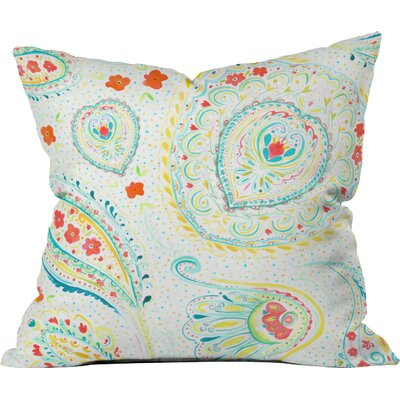 Jacqueline Maldonado Watercolor Paisley Outdoor Throw Pillow
