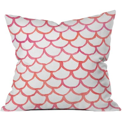 Scalloppy Outdoor Throw Pillow (Set of 2) Size: 18 H x 18 W x 5 D