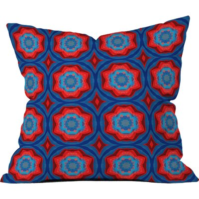 Red Sun Flowers Throw Pillow (Set of 2) Size: 20 H x 20 W x 6 D