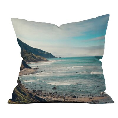 Catherine Mcdonald California Pacific Coast Highway Throw Pillow Size: Medium