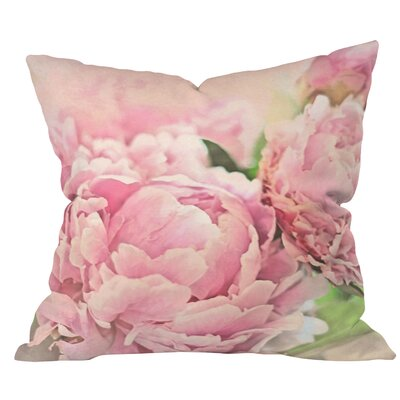 Peonies Throw Pillow Size: Medium