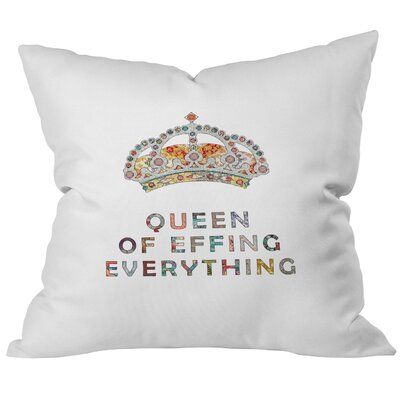 Menodora Her Daily Motivation Throw Pillow Size: 26 H x 26 W