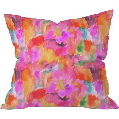 Betsy Olmsted Simone Indoor/outdoor Throw Pillow Size: 26 H x 26 W x 7 D, Color: Magenta