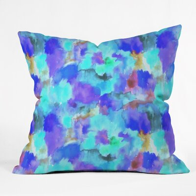Betsy Olmsted Simone Indoor/outdoor Throw Pillow Size: 16 H x 16 W x 4 D, Color: Azure