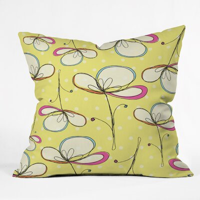 Rachael Taylor Floral Umbrellas Throw Pillow Size: 18 x 18