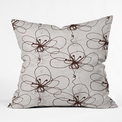 Rachael Taylor Tonal Floral Throw Pillow Size: 16 x 16