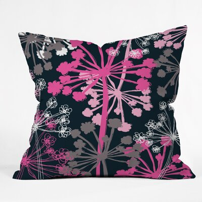 Rachael Taylor Cow Parsley Throw Pillow Size: 20 x 20