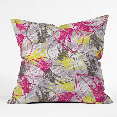 Rachael Taylor Organic Retro Leaves Throw Pillow Size: 18 x 18