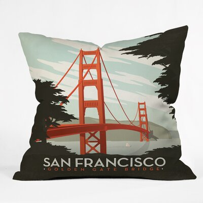 Anderson Design Group San Francisco Throw Pillow Size: 16