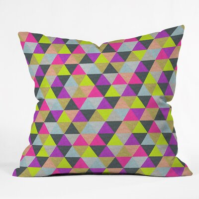 Bianca Green Pyramid Throw Pillow Size: 16 H x 16 W