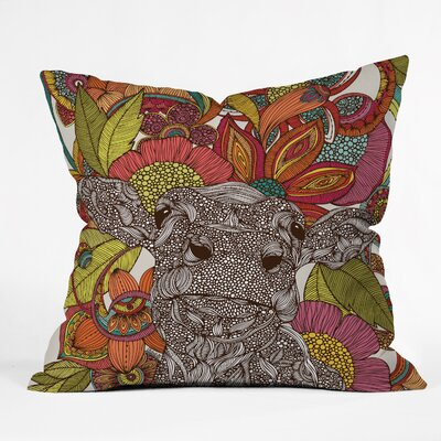 Valentina Ramos Arabella and the Flowers Throw Pillow Size: 16 x 16