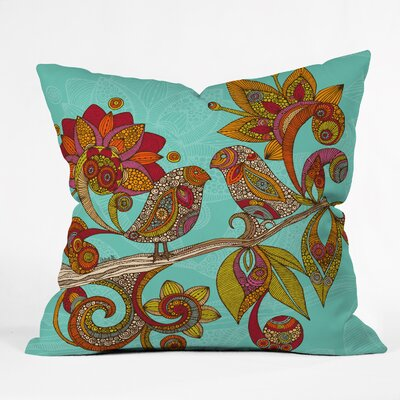 Valentina Ramos Hello Birds Throw Pillow Size: 16 x 16