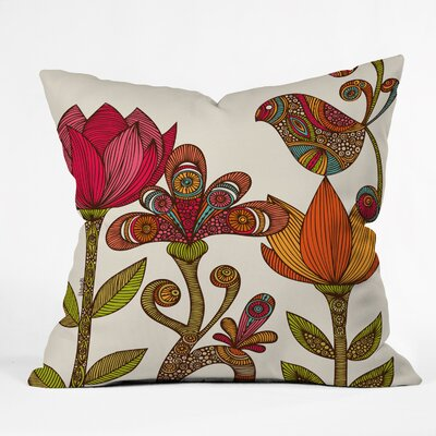 Valentina Ramos in the Garden Throw Pillow Size: 16 H x 16 W x 5 D
