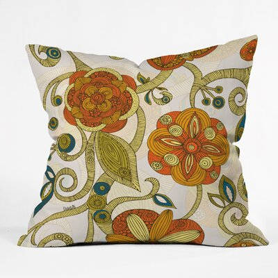 Valentina Ramos Flowers Throw Pillow Size: 16 x 16
