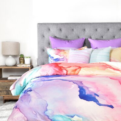 Rosie Brown Color My World Duvet Cover Size: Queen, Fabric: Lightweight