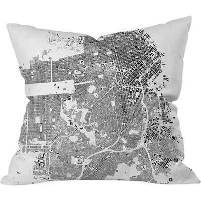 CityFabric Inc San Francisco Throw Pillow Size: 20 H x 20 W, Color: White