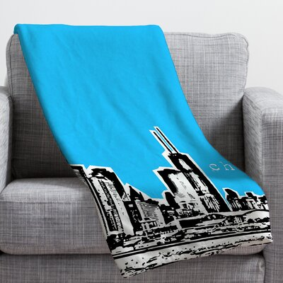 Bird Ave Chicago Throw Blanket Size: Large