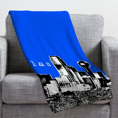 Bird Ave Dallas Throw Blanket Size: Medium, Color: Royal