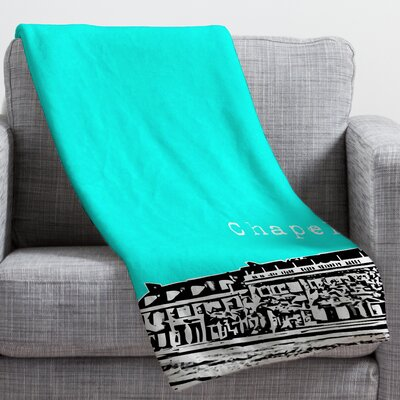 Bird Ave Chapel Hill Throw Blanket Size: Small, Color: Aqua