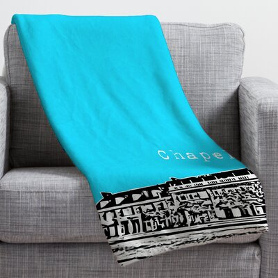 Bird Ave Chapel Hill Throw Blanket Size: Large, Color: Blue