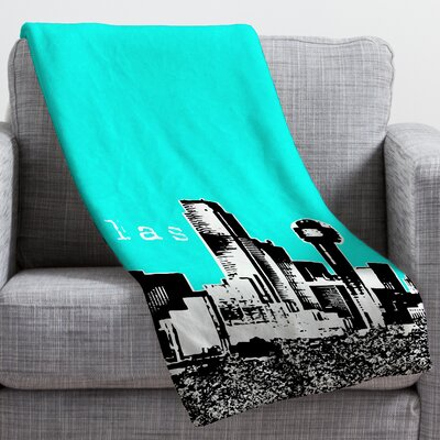 Bird Ave Dallas Throw Blanket Size: Large, Color: Aqua