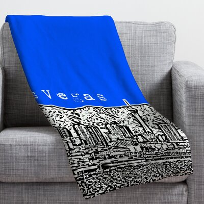 Bird Ave Las Vegas Throw Blanket Size: Medium, Color: Royal