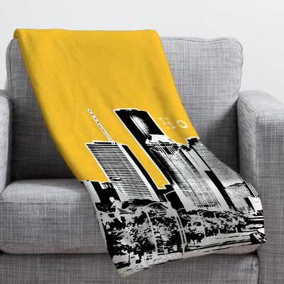 Bird Ave Houston Throw Blanket Size: Large, Color: Yellow