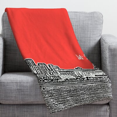 Bird Ave Miami Throw Blanket Size: Small, Color: Red