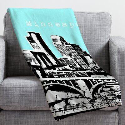 Bird Ave Minneapolis Throw Blanket Size: Large, Color: Sky