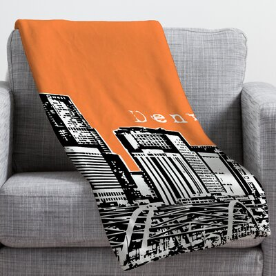 Bird Ave Denver Throw Blanket Size: Medium, Color: Orange