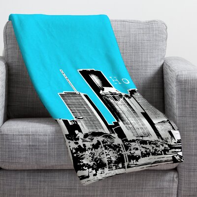 Bird Ave Houston Throw Blanket Size: Large, Color: Sky