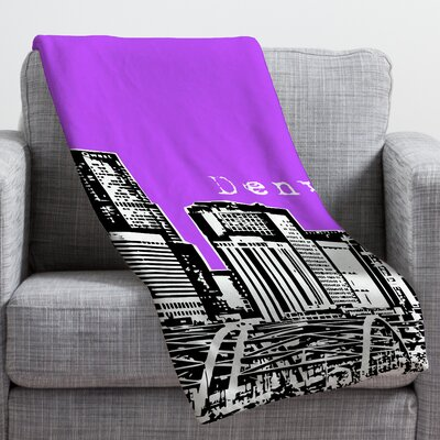 Bird Ave Denver Throw Blanket Color: Purple, Size: Small