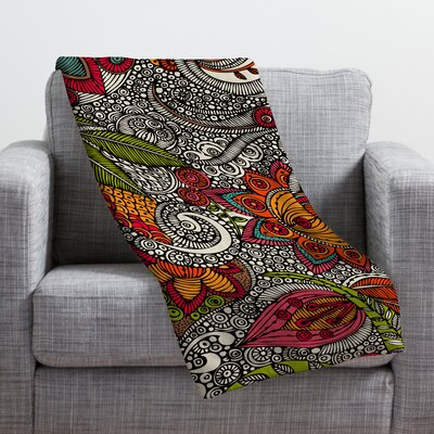 Valentina Ramos Random Flowers Throw Blanket Size: Large