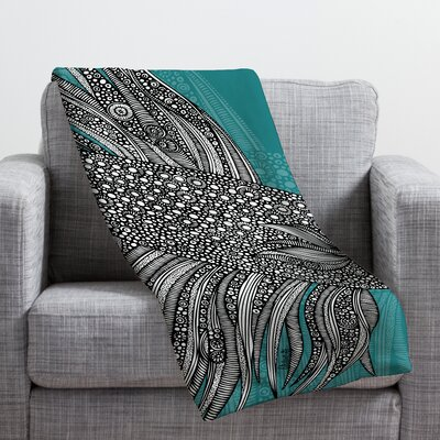 Valentina Ramos Beta Fish Throw Blanket Size: Large