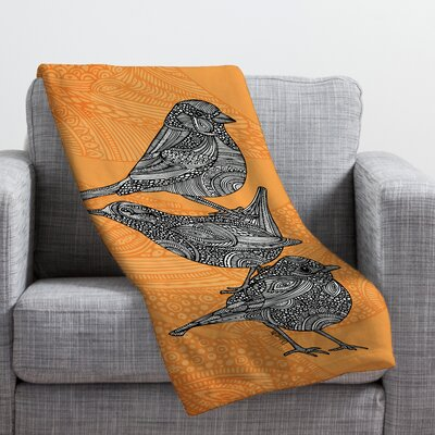 Valentina Ramos 3 Little Birds Throw Blanket Size: Medium