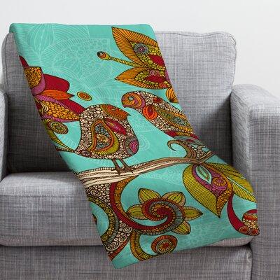 Valentina Ramos Hello Birds Throw Blanket Size: Small