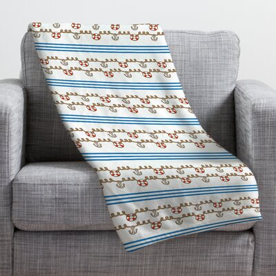 Jennifer Denty Anchor Small Throw Blanket Size: Large