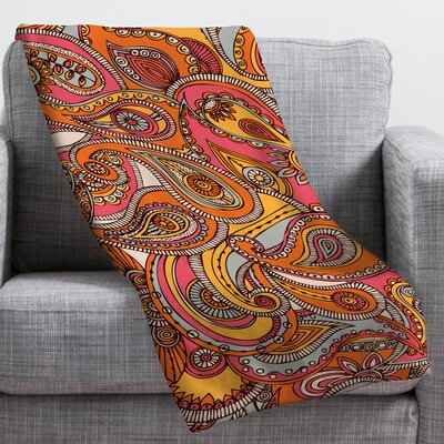 Valentina Ramos Spring Paisley Throw Blanket Size: Small