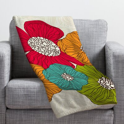 Valentina Ramos Flowers Throw Blanket Size: Medium
