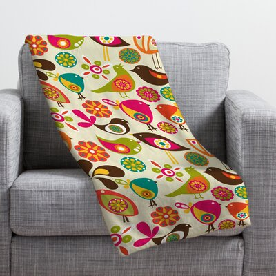 Valentina Ramos Little Birds Throw Blanket Size: Small