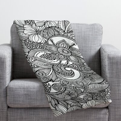 Valentina Ramos Doodles Throw Blanket Size: Small