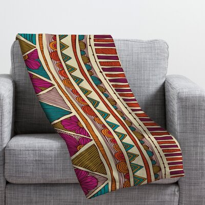 Valentina Ramos Ethnic Stripes Throw Blanket Size: Large