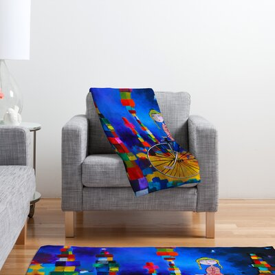 Robin Faye Gates Out of Bounds Throw Blanket Size: Small