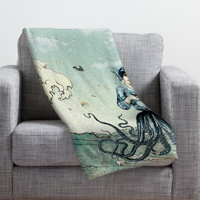 Belle13 Sea Fairy Throw Blanket Size: 40 H x 30 W