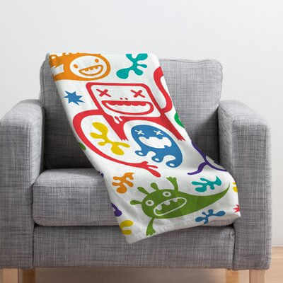 Andi Bird Throw Blanket Size: Large