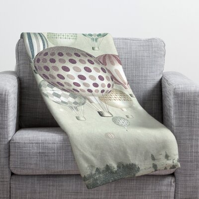 Belle13 Winter Dreamflight Throw Blanket Size: 80 H x 60 W