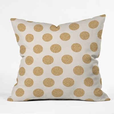 Throw Pillow Size: 18 H x 18 W x 5 D, Color: White/Gold