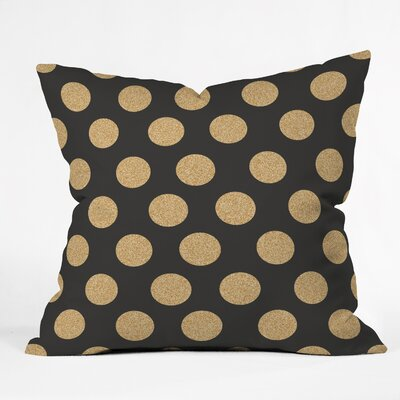 Throw Pillow Size: 18 H x 18 W x 5 D, Color: Black/Gold